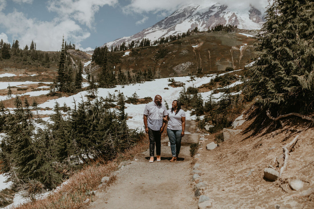 tyeisha and adam on mt. rainier
