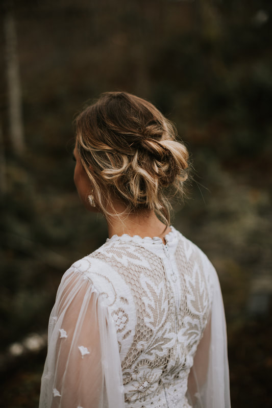 brides hair photo